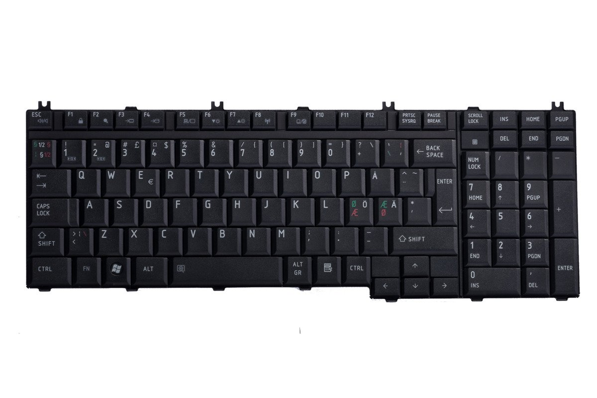 Keyboard Toshiba MP-06876DN-920 (Norwegian)