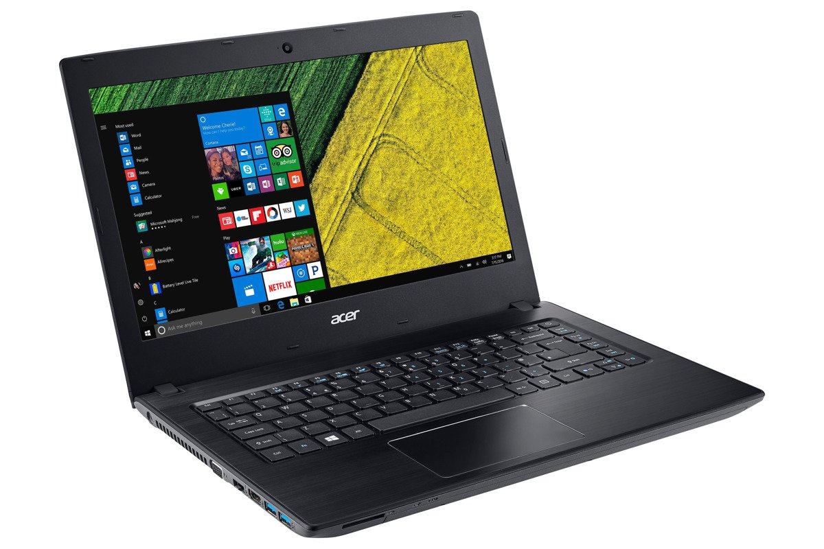 Laptop Notebook Acer Aspire E5 14 FHD i3 4GB 256GB SSD Windows 10 (Nordic)
