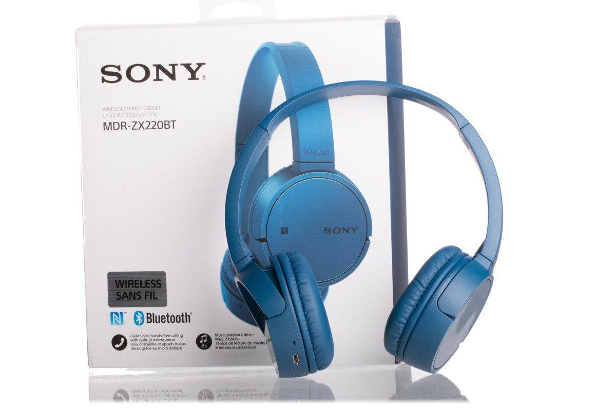 Wireless Bluetooth Headphones Sony MDR-ZX220BT Blue Grade B