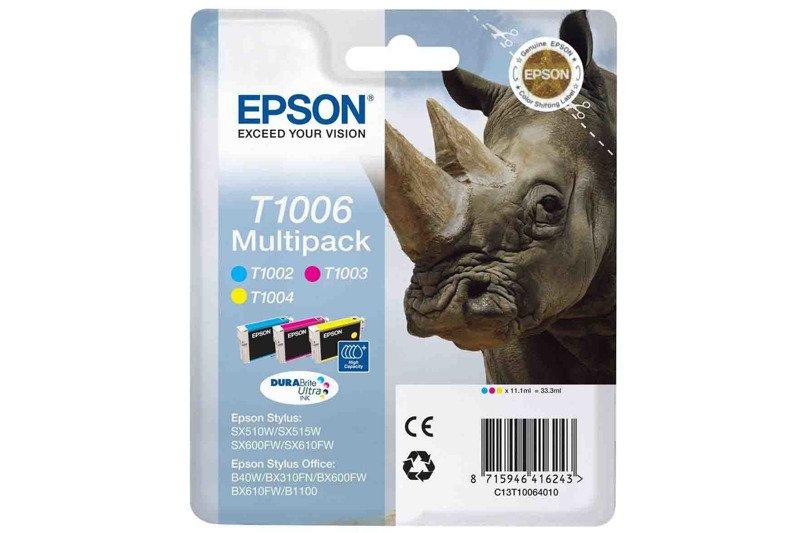 Genuine Ink Cartridge Epson T1006 C13T10064010 Cyan, magenta, yellow