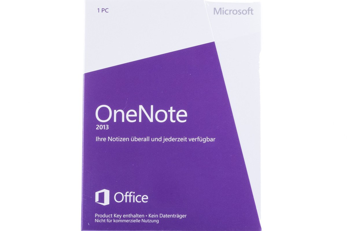 Microsoft OneNote 2013 32bit/X64 German Medialess Non-commercial